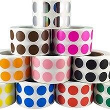 1in; белый цвет-кодирование наклейки точки | постоянный клей, записываемая поверхность-500 этикеток/рулон из бумаги этикетки