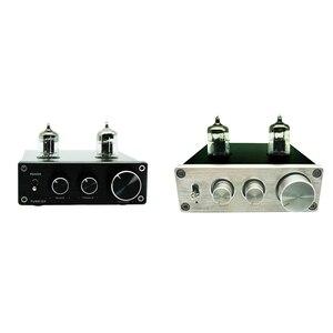 Image 4 - Hi Fi Vacumn 6J1 трубный универсальный усилитель RIAA, предварительно Регулируемый с поворотной антенной и гнездом для наушников, усилитель алюминиевый Phono Mini Home