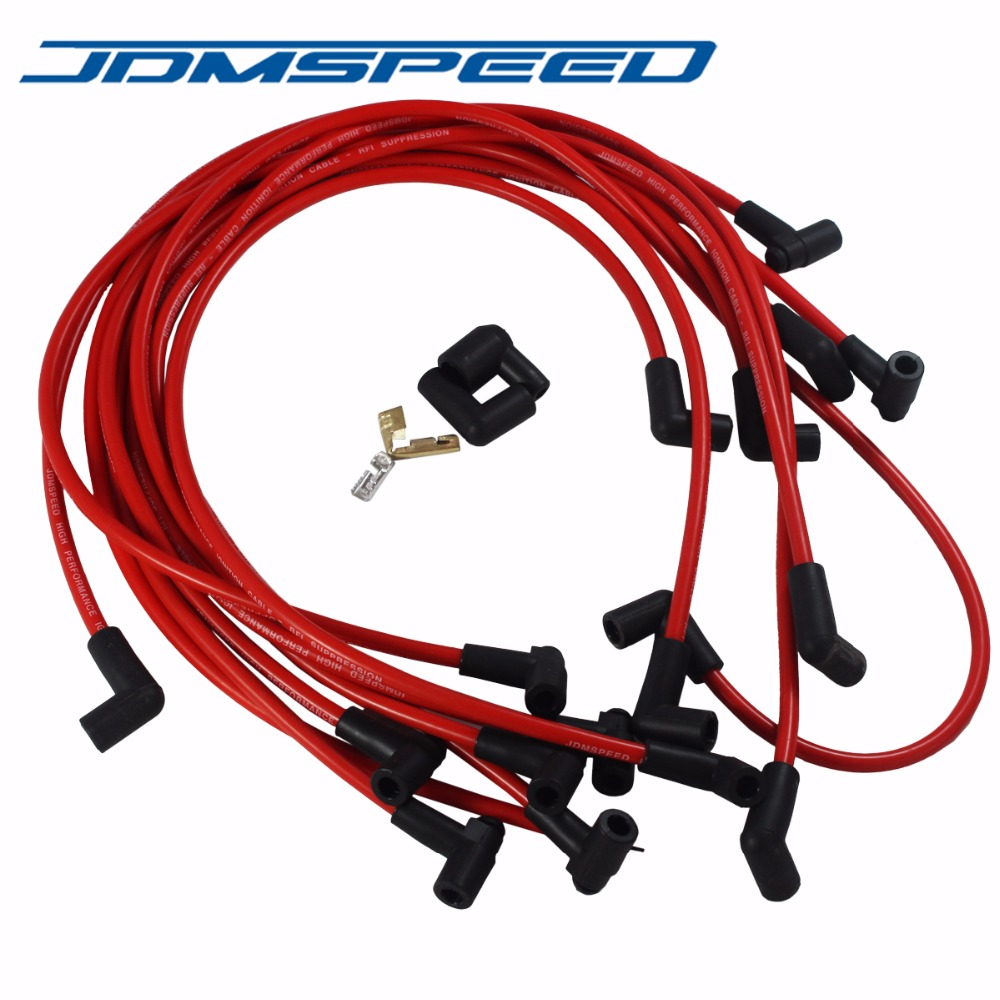 [DIAGRAM_38YU]  Free Shipping JDMSPEED Ultra 40 Red Spark Plug Wires Set Big Block For Chevy  BBC 454 502 HEI|Ignition Coil| - AliExpress | Big Block Chevy Ignition Wiring |  | AliExpress