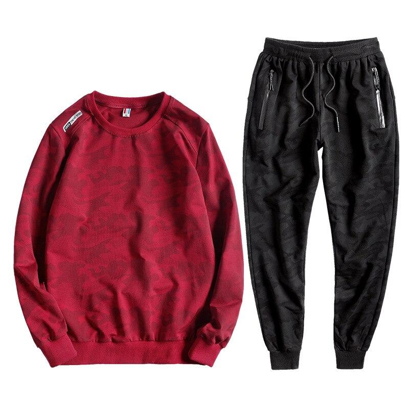 Big Size 7XL 8XL 9XL 10XL  Tracksuit Men Two Pieces Clothing Set Camouflage Hoodies Sweatpants Joggers Mens Sporting Suit