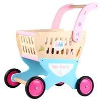 Деревянная игрушка корзину с бесплатной Давайте поиграем дома! Общие грузов детей Ролевые игры Игрушечные лошадки Xmas/подарок на день рожде
