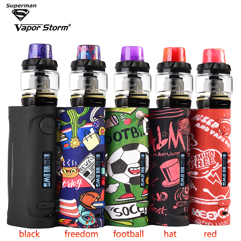 Vapor Storm Vape Kit Puma Baby Hawk Electronics 80w Cigarette Mod 0.91 Inch LED Display Pen Atomizer E Cigarette Vape Pen