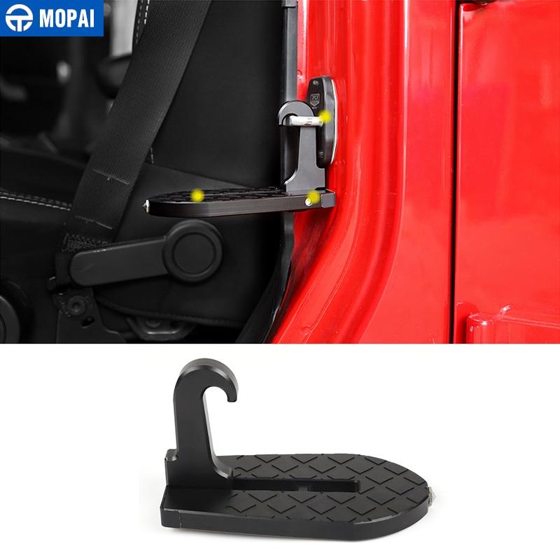 MOPAI Universal Car Door Foot Plate For Car SUV Folding Foot Pegs Pedal Vehicle Emergency Hammer For Jeep Wrangler JK JL
