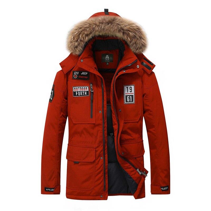 Brand duck down jacket men fur collar Winter jacket men thick warm mens white duck down coat jaqueta masculina 8820A