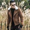 2017 Men Winter Leather Locomotive Fur Jacket Men High Quality Fashion Motorcycle Slim Brand Design Warm