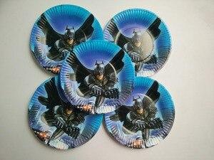Image 5 - 81個20人ハッピーバースデー子供バットマンベビーシャワーパーティーの装飾セットバナーテーブルクロスストローカッププレートサプライヤー