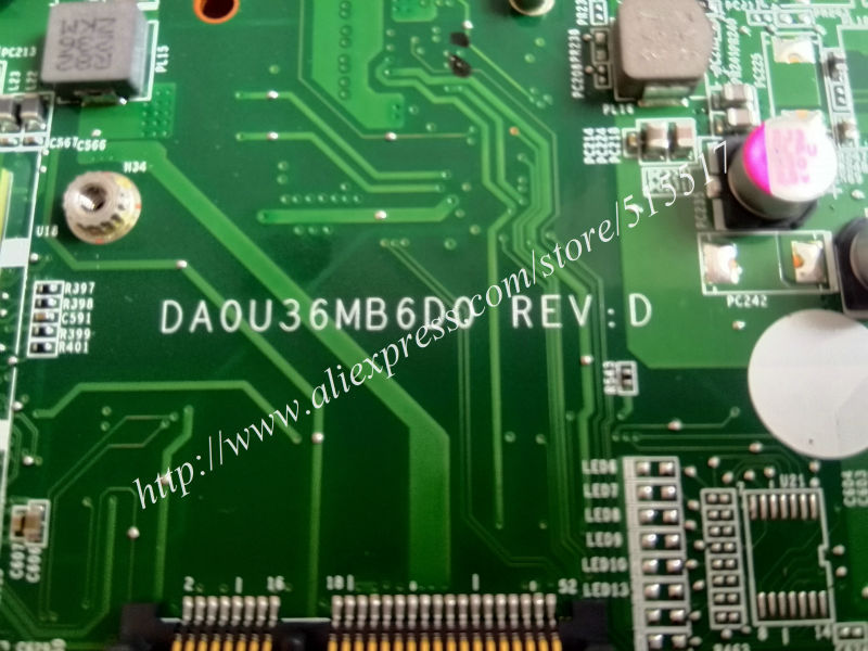 DA0U36MB6D0 Laptop MotherBoard For HP Pavilion 15 Ultrabook Sleekbook 15T 15-B 701699-501 701699-001 701678-001, DHL EMS Free