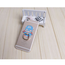 Naruto luffy Totoro Figure 360 Degree Metal Finger Ring for iphone ipad Mobile Phone Support