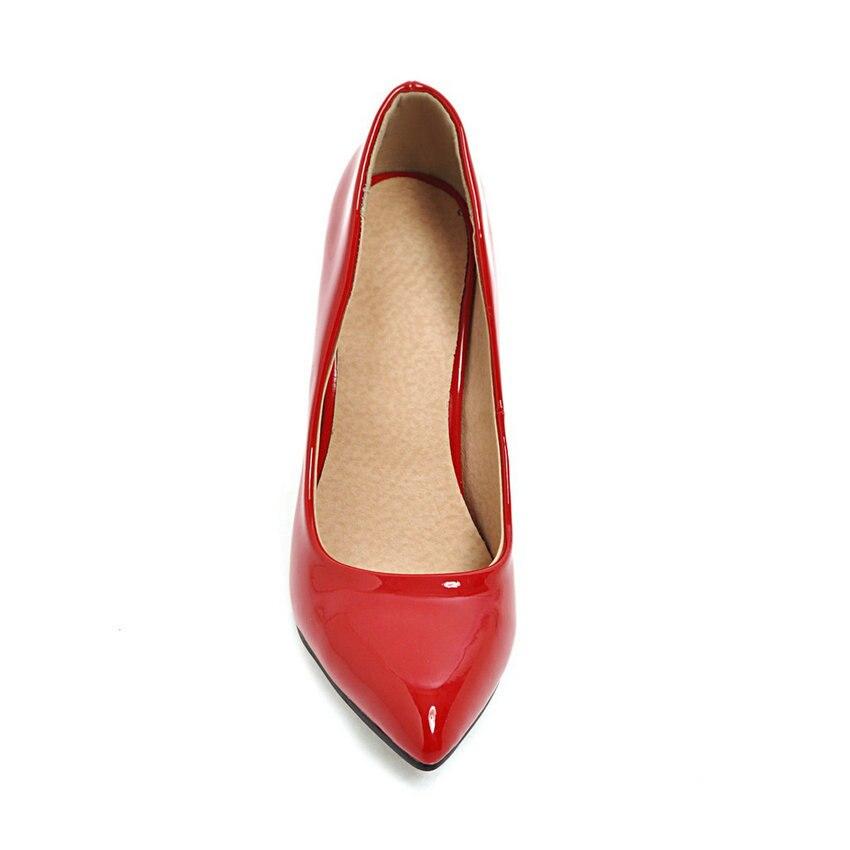 ESVEVA 2018 Women Pumps Slip on shallow Elegant Thin High Heels Pointed Toe Elegant Wedding Pumps Women Shoes Size 34-43 Karachi
