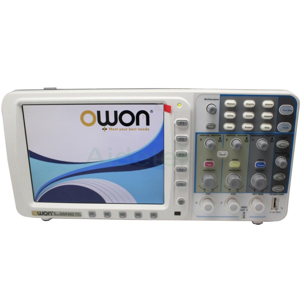 """""""OWON"""" Naujas ypač plonas 300 MHz OWON osciloskopas SDS9302 3.2G 10M įrašymo taškas FFT VGA"""