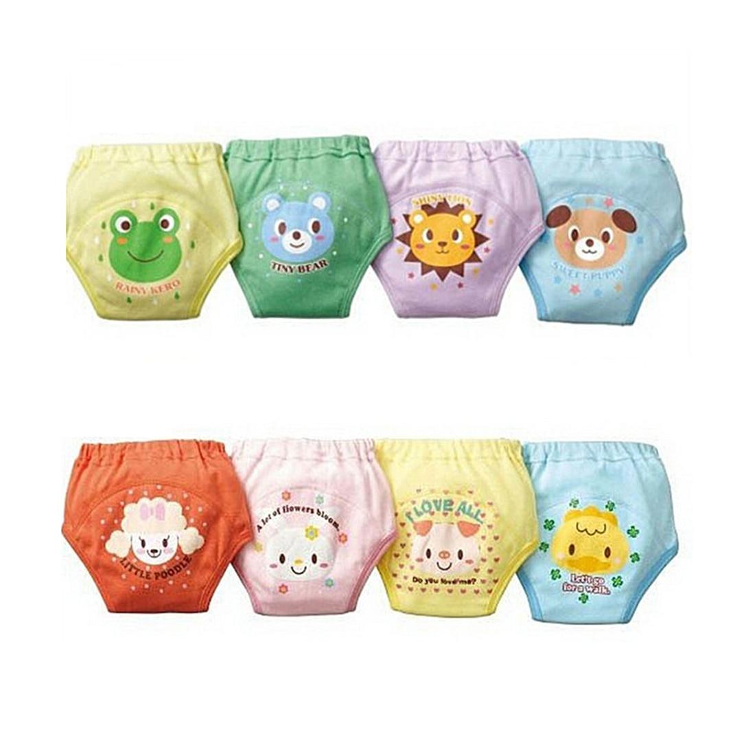 4 X Baby Kleinkind Mädchen Jungen Nette 4 Ebenen Wasserdicht Potty Training Pants reusable 4 Größe Zufällig Senden