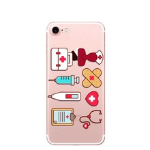 Silicone Protective Nurse Phone Cover Cases For Apple iPhone 5 5S 6S Plus 7 8 Plus