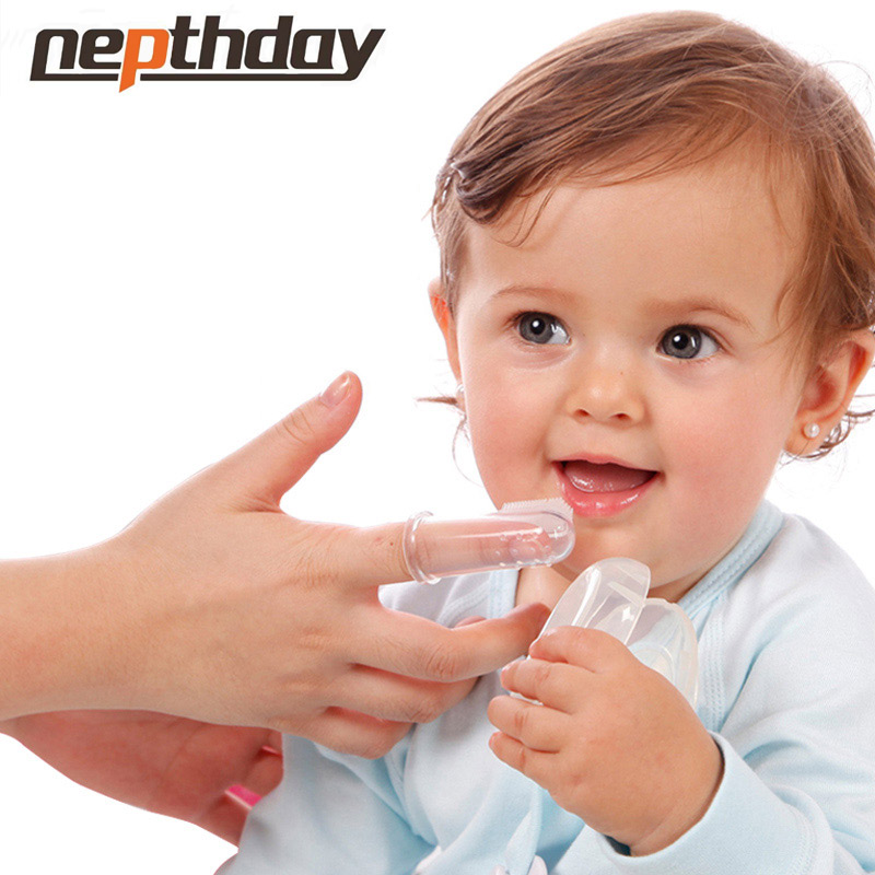Safe Silicone Finger Toothbrush For Baby Kids Sanitary Gum Brush Infant Deciduous Tooth Brush With Clear Massage 13-149/150/151