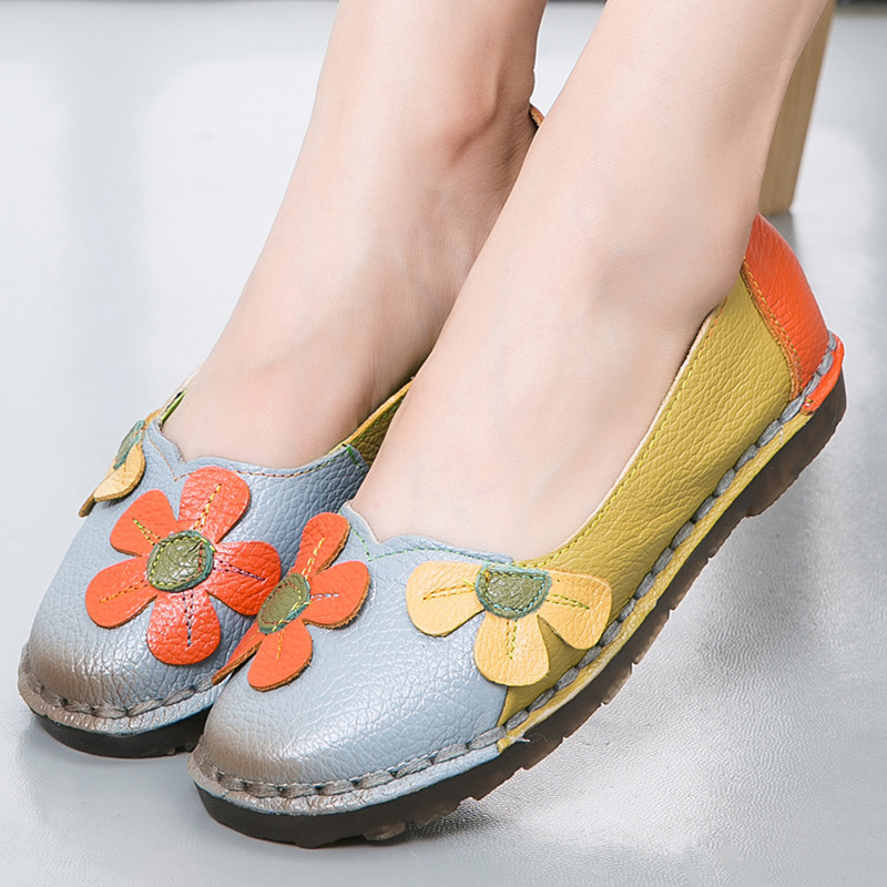 Genuine Leather Shoes Women Flats Slip on Ballerina Shoes Flat Female Loafers Moccasins Women Casual Shoes Zapatos Oxford Mujer women shoes summer flat female loafers zapatos mujer women casual flats woven shoes sneakers slip on colorful sneakers mujer ax4