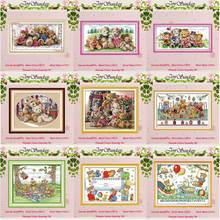 The Bear painting counted Cross Stitch 11CT 14CT Set Wholesale DIY Cartoon Cross-stitch Kit Embroidery Needlework