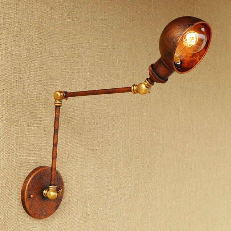 Rust Loft-Stil Industrielle Wandleuchten Wandlampen Swing Long Arm - Innenbeleuchtung - Foto 4