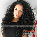 Free shipping high Quality heat resistant Afro curl kinky curly Synthetic lace front wig for Black Women No Tangle