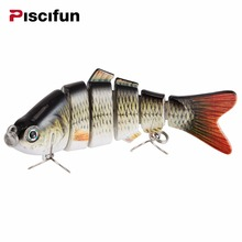 Piscifun Fishing Lure 10cm 20g 3D Eyes 6-Section Lifelike Fishing Laborious Lure Crankbait With 2 Hook Fishing Baits Pesca Cebo