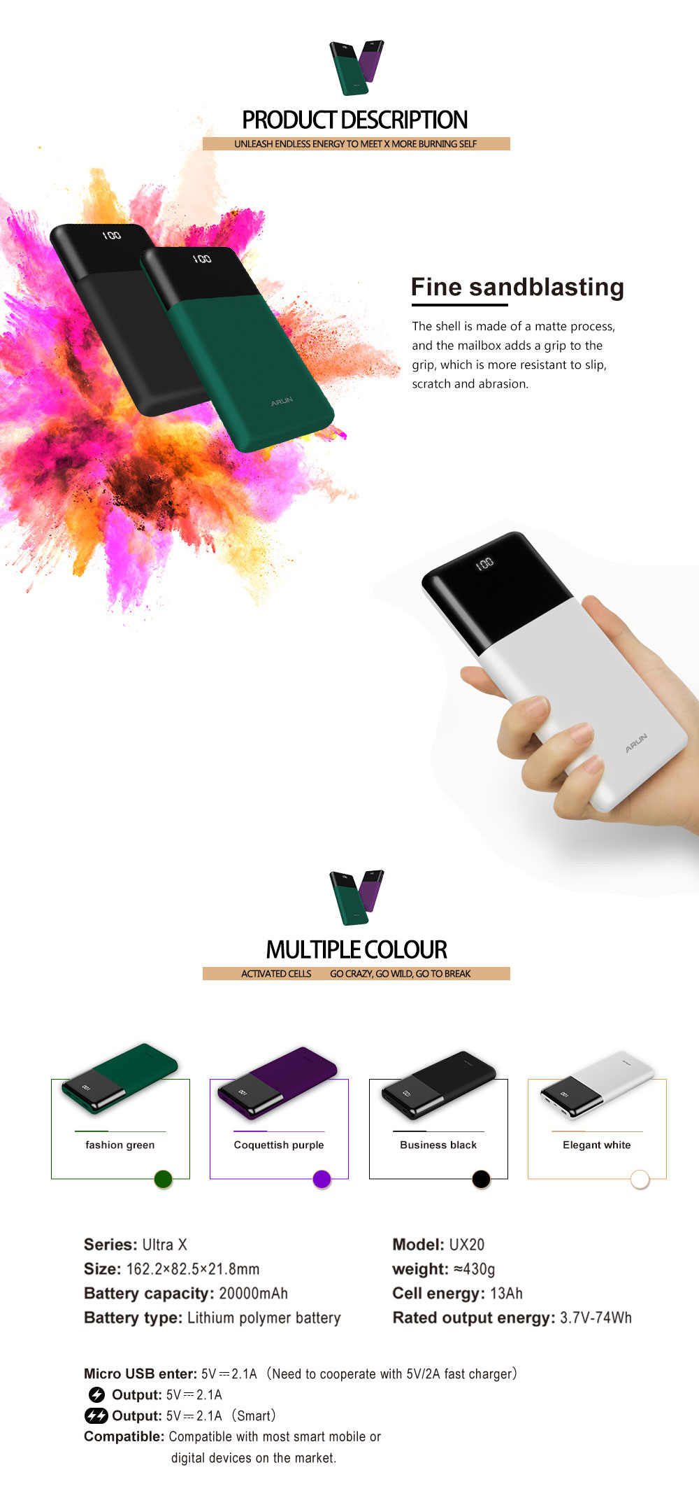 external battery-power-battery bank-mobile charger