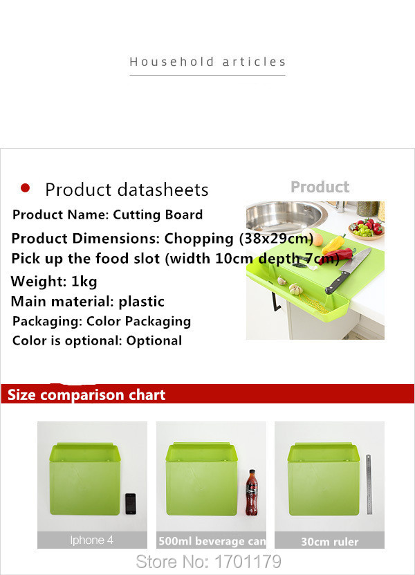 Creative Kitchen Cutting Board With Antibacterial Dish Tank Candy