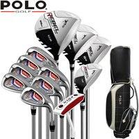 Поло бренд Титан сплава для водителя мужские гольф клубы клюшки для гольфа комплект Гольф Графит валы или Гольф комплект