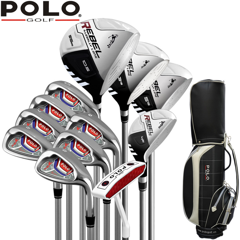 POLO Brand Titanium alloy for driver mens golf clubs golf irons set golf graphite shafts or golf set new arrival golf club sets junior golf club set with stand bag for kids graphite shaft junior golf clubs sets for boys