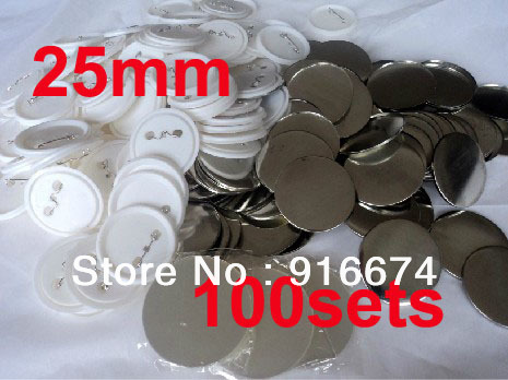 Free shipping Discount 1 25mm 100 Sets Professional Badge Button Maker Pin Back Pinback Button Supply Materials life is too short to be anything but happy pinback button 1 25 pin badge