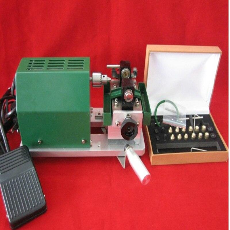 Perles sheel Perle jade Machine De Forage, mandrins De Perles avec 7 pcs En Acier De Tungstène Aiguille et une poignée de pièce, bijoux outils rotatifs