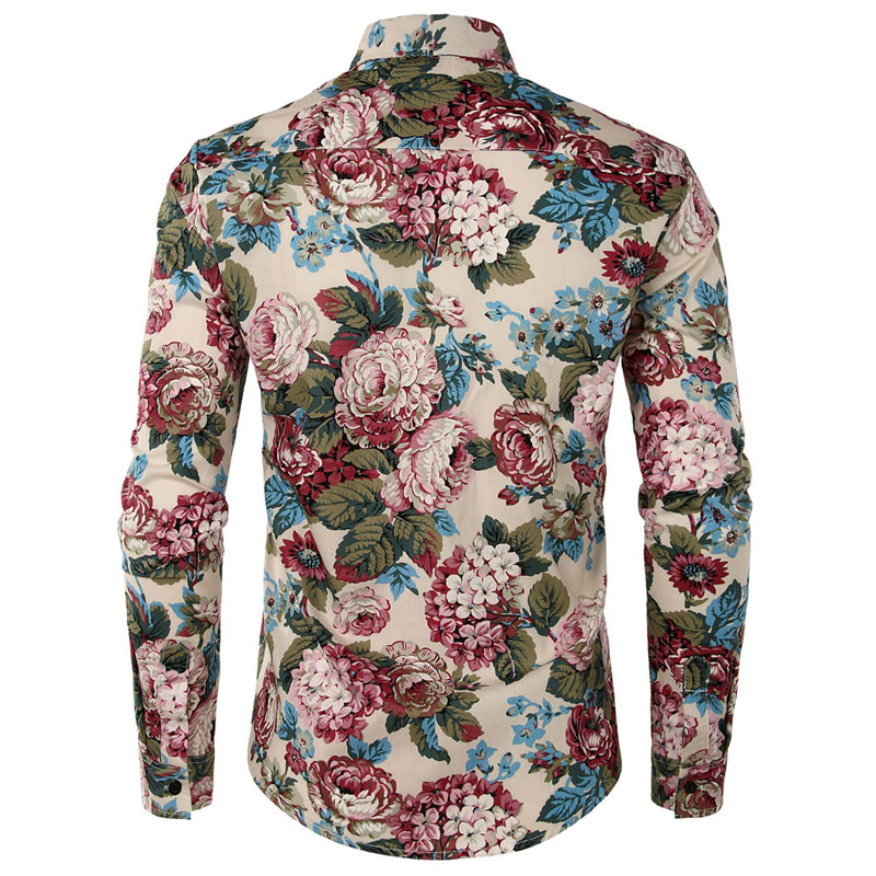 reasonable price lowest discount various styles Floral Print Dress Shirt