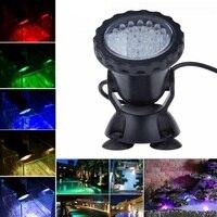 36 LED RGB Underwater Spot Light For Water Garden Pond Aquarium Fish Tank Lamp