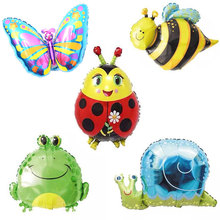 New Birthday Party Insects Series Balloons Bees Butterflies Frogs Seven-spot ladybugs Childrens toys Balloon decorations