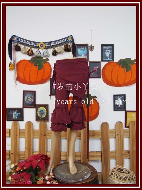 ✔  Брюки из лайкры и хлопка с узкими брюками и воланами в готическом стиле с обручем для танца живота С ✔