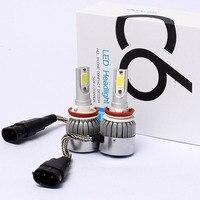 CASTALECA 1Pair C6 LED Car Headlight All In One AUTO BULB H1 H3 H7 H11 H4