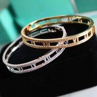 Classic Rome digital hollow Bracelet Silver Plated Tyme Bracelets Carter bracelets & bangles for women H Bangle Jewelry