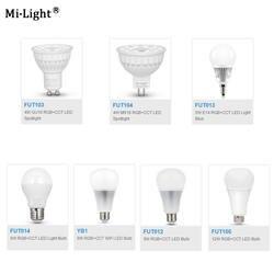 Milight FUT103/FUT104/FUT013/FUT014/YB1/FUT012/FUT105 4 W 5 W 6 W 8 W 9 W 12 W E14 GU10 MR16 E27 RGB CCT Светодиодная лампа Плаче пятно света