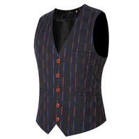 2017 Mode Cowboy Trouwpak Vesten Heren Zwart Grijs Prom Plaid Vest Plus Size Mouwloze Jas Lesuire Taille Jas Z20