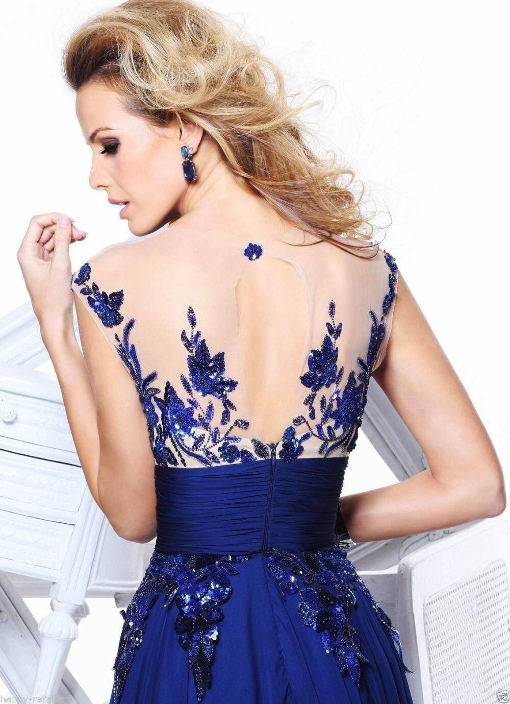 Grande taille 6XL élégant bleu rouge perle dentelle mousseline De soie robes longues pour fête d'été robe formelle 2019 Maxi robes robes De Festa - 3