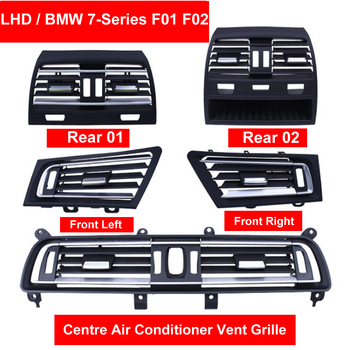 LHD Front Wind Left/Center/Right/Rear Air Conditioning Vent Grill Outlet Panel Chrome Plate For BMW 7 series F01 F02 730 735 740