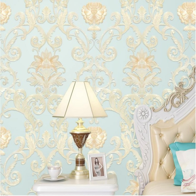 beibehang Nonwovens Continental Luxury Damascus Deep Embossed 4D Relief Wallpaper Living Room Bedroom Wallpaper papel de paredebeibehang Nonwovens Continental Luxury Damascus Deep Embossed 4D Relief Wallpaper Living Room Bedroom Wallpaper papel de parede