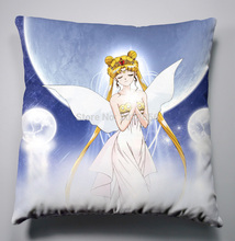 Free Shipping Anime Manga Pretty Soldier Sailor Moon Pillow 40x40cm Pillow Case Cover Seat Bedding Cushion 006