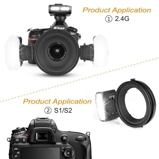US $336 29 5% OFF|Meike MK MT24 Macro Twin Lite Flash for Sony Alpha A7 A7R  A7S A7II A7RII A5000 A5100 A6000 A6300 A6500 Mirrorless Cameras-in Flashes