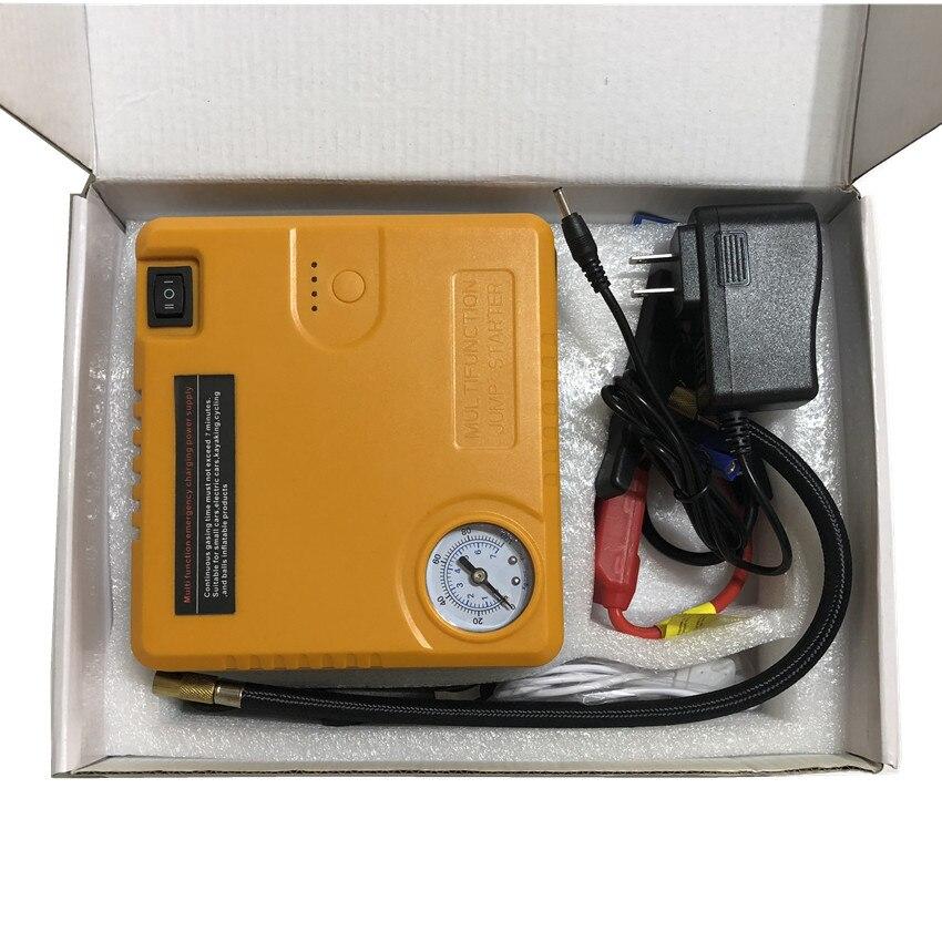 Dispositif de démarrage 12 V voiture batterie saut démarreur puissance Booster batterie externe multi-fonction voiture saut démarreur pompe à Air TM16B