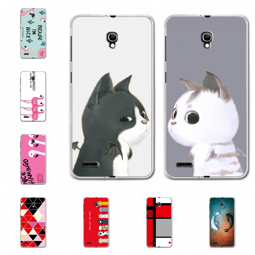 For Alcatel One Touch Pop 2 7043 <font><b>7043Y</b></font> 7044 Case Cover Soft TPU Bunny Patterned Back Protective Silicone Case For Alcatel 7044X image