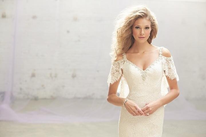 Aliexpress.com : Buy 2016 Lace V Neck White Sheath Greek Wedding ...
