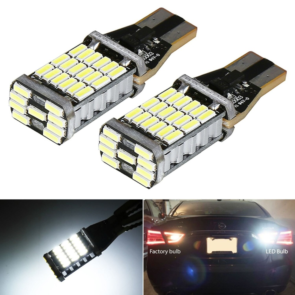 6pcs Energy Saving LED Bulb Car Light T15 Bright Canbus Backup Lamp 912 921 T15 W16W Led Canbus for Backup Reverse Lights 12V