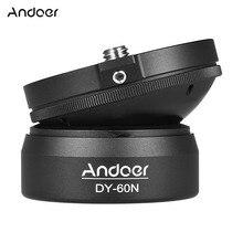 """Andoer DY-60N Алюминиевый сплав штатив Выравнивающая база панорама шарик для фотографии головка с 1/"""" винт пузырьковый уровень для Canon"""