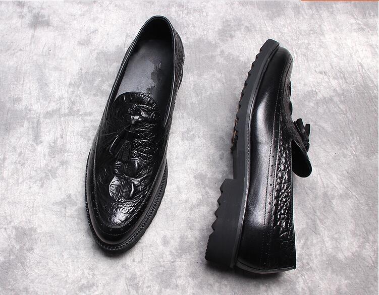 Zapatos Amarillo Moda Derby Cuero Negro Handmade Vestido 2 1 Primavera Para 2018 Mujers Masculina Hombre Oxfords Italiano 44R0qwX