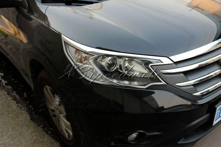 Pour 2012-2014 CRV CR-V couvercle de lumière en plastique ABS chromé