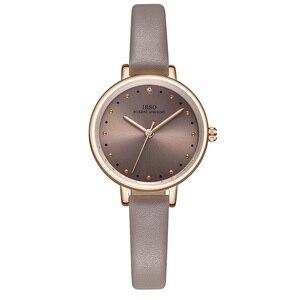 Image 3 - IBSO Brand Luxury Ladies Quartz Watch Leather Strap Montre Femme Fashion Women Wrist Watches Relogio Feminino Female Clock