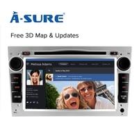 A-Sure GPS Radio Disco USB Bluetooth per OPEL Antara Vectra Zafira Astra Meriva Vivaro DAB + 3D Mappa SD Card vista posteriore camer stereo